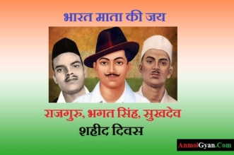 Shaheed Diwas Kyo Manaya Jata Hai in Hindi